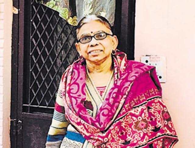 Laxmi Devi, mother of Bhawna Arora, in Rohini.