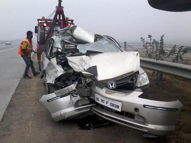Dense fog and low visibility led to a pile-up of more than 25 vehicles near Rabupura on Yamuna Expressway on Sunday morning.