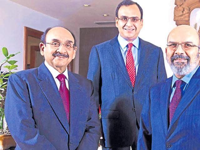 The Shriram brothers - (from left)Ajay, Ajit and Vikram.