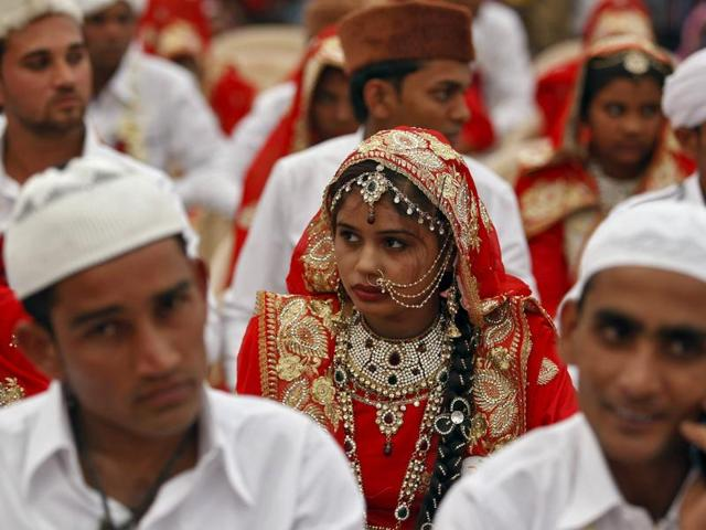 A total of 111 Muslim couples from various parts of Ahmedabad took their wedding vows on Friday during the mass marriage ceremony organised by a Muslim voluntary organisation, organisers said.
