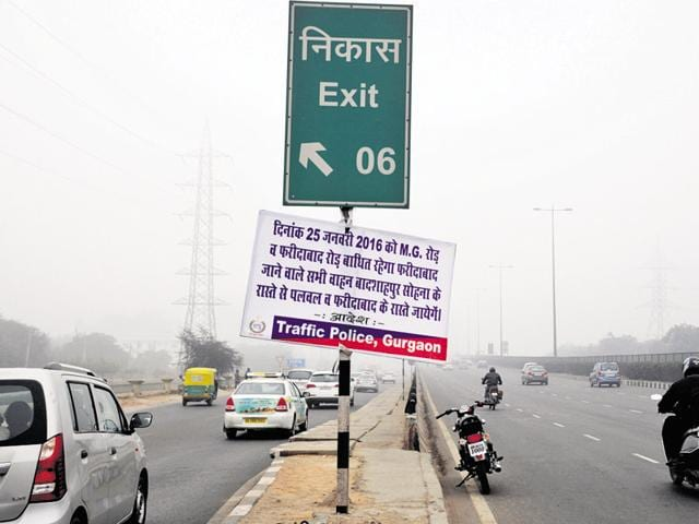 Heavy vehicles will not be allowed on the Gurgaon section of NH 8.(Parveen Kumar/HT Photo)