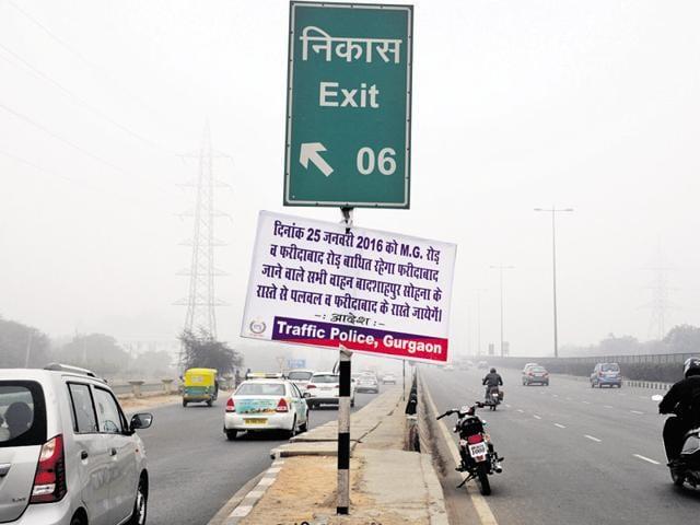 Gurgaon-Faridabad Road,MG Road,Republic Day