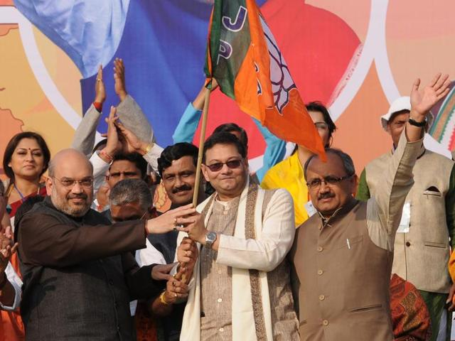 Netaji's grand nephew Chandra Bose on Monday joined BJP in the presence of party chief Amit Shah.