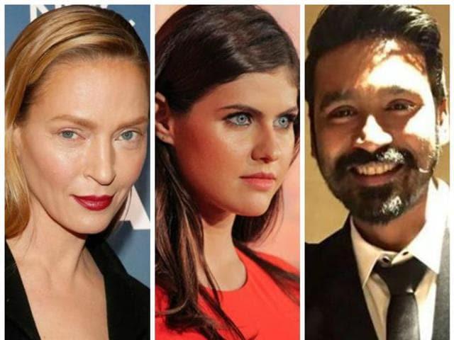 Actors Uma Thurman, Alexandra Daddario and Dhanush are now co stars.