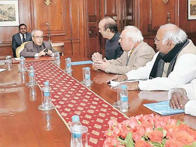 Cong leaders seek President's intervention
