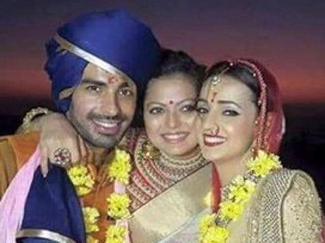 Sanaya Irani and Mohit Sehgal tied the knot on Monday, January 25.