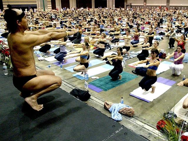 Indian-American Bikram Choudhury is the founder of the Yoga College of India.