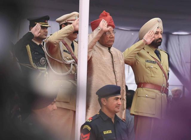 Punjab and Haryana governor  and UT administrator at the Republic Day function at  Chandigarh on Tuesday.