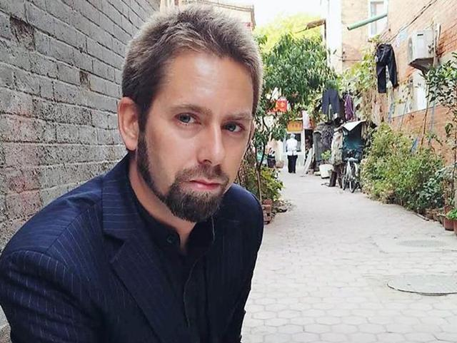 This undated photo at an undisclosed location provided to AFP by the 'Chinese Urgent Action Working Group' shows Swedish human rights activist Peter Dahlin.