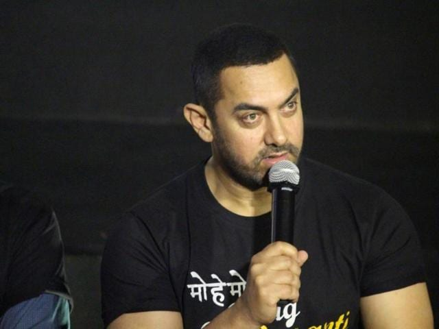 Actor Aamir Khan during a press conference to commemorate 10 years of Rang De Basanti in Mumbai on Jan 25, 2016.