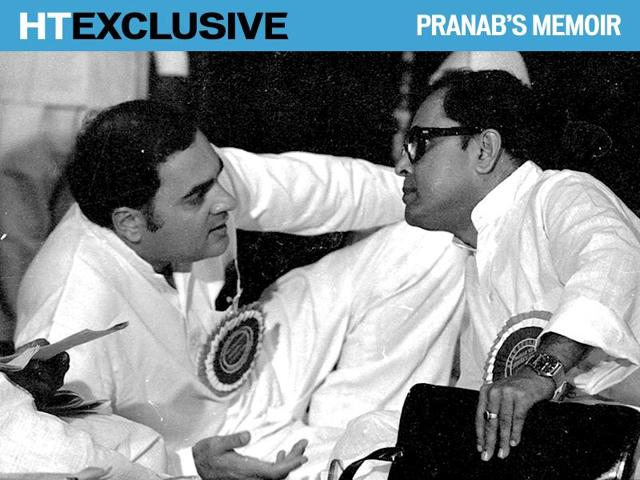 The hours between Indira Gandhi's assassination and the naming of Rajiv Gandhi as the next prime minister have often been the subject of intense political speculation, including suggestions that Pranab Mukherjee may have made a move for the coveted post.(Virendra Prabhakar/HT File Photo)