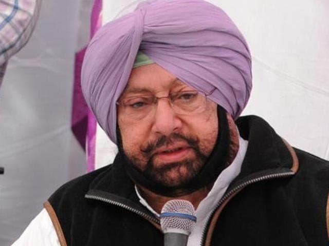 Punjab Congress president Captain Amarinder Singh(HT File Photo)