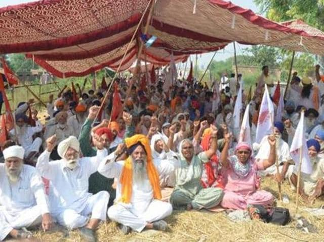 Farmers across the state have called off their six-day protest owing to the CM's ill health.