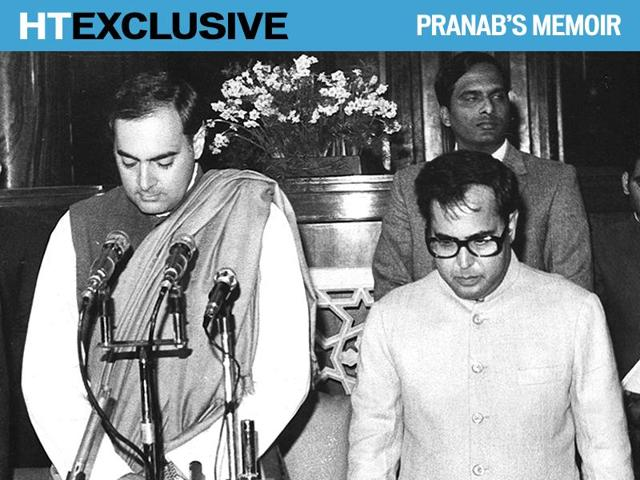 The hours between Indira Gandhi's assassination and the naming of Rajiv Gandhi as the next prime minister have often been the subject of intense political speculation, including suggestions that Pranab Mukherjee may have made a move for the coveted post.