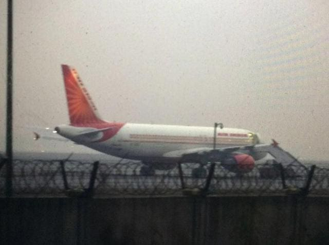 Air India flight AI-215 was delayed after officials received an anonymous call of