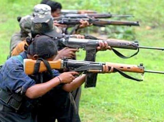 Two policemen were killed and eight others injured when Maoists ambushed a police party near Kasiyar village in Jharkhand's Palamu district.