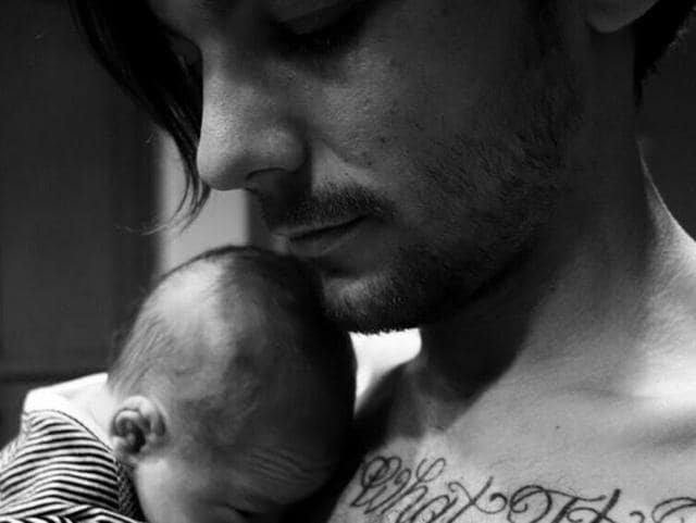 In the black and white picture that he shared on Twitter, the caption read,'Meet my little lad, Freddie' followed by a baby emoji.(Twitter)
