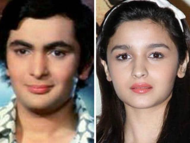 Rishi Kapoor said Alia Bhatt is his perfect lookalike.