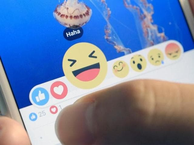 """Facebook users will soon be presented with a set of five new emojis which include """"love,"""" """"haha,"""" """"sad,"""" """"angry"""" and """"wow"""" alongside the default 'Like' button."""