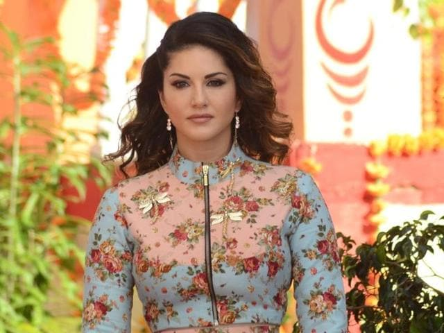 Actress Sunny Leone during the promotion of film Mastizaade.