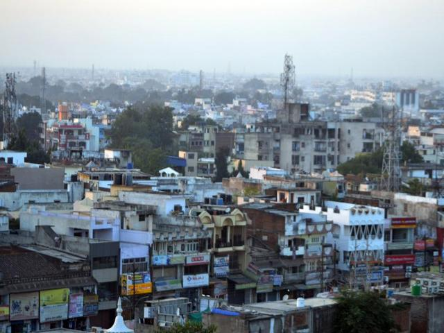 A bird's eye view of Jabalpur city.  Ranked at 7, Jabalpur was a surprise entrant in the first round of the Smart City project.