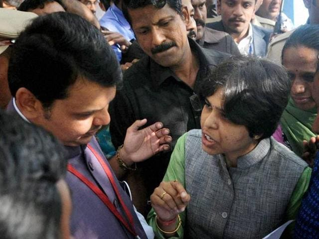 Activist Trupti Desai met Maharashtra chief minister Devendra Fadnavis to press for their demand of women's entry to Shani Shingnapur temple.