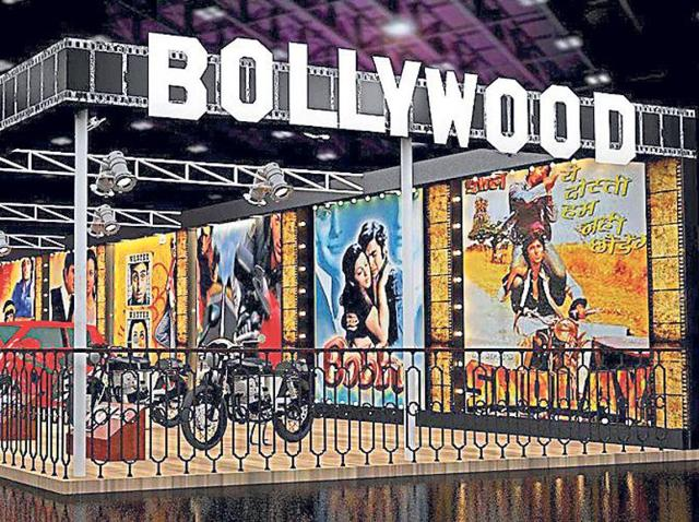 A 3D representation of the Bollywood pavillion at the Auto Expo