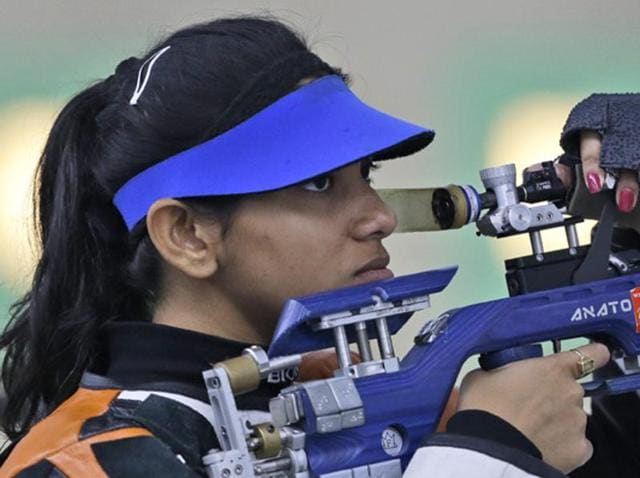 Ayonika Paul missed out on a possible victory and settled for silver at the Asian Olympic qualifying shooting championships.