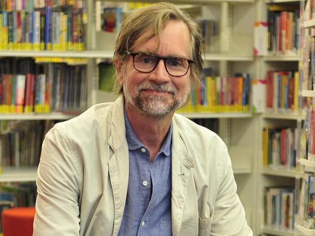 Poet Mark Waldron in Chandigarh.