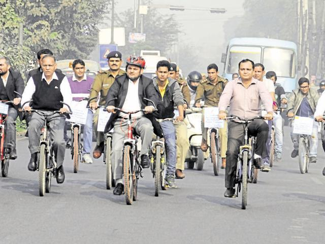 Gurgaon was the first NCR city to observe car-free day beginning last September. The city goes car-free every Tuesday, with office-goers carpooling or cycling to workplaces.