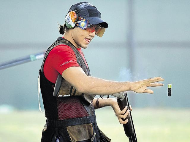 2016 Rio Olympics,Trap shooter Kynan Chenai,Asia Olympics qualifying competition