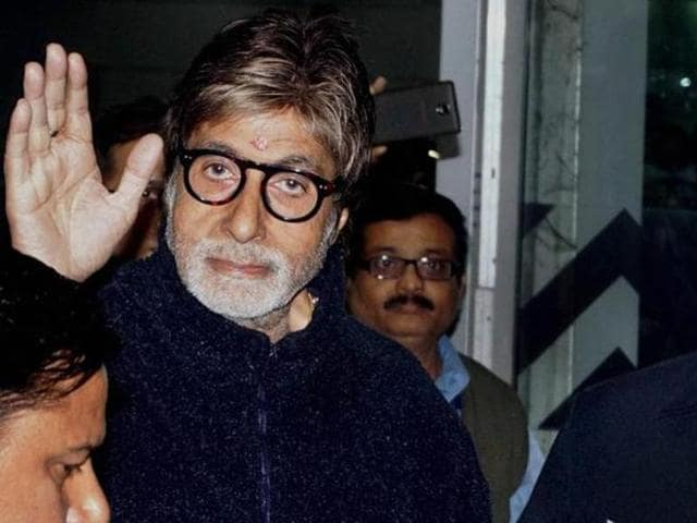 Amitabh Bachchan arrives in Kolkata on Tuesday for shooting of a film. (PTI)