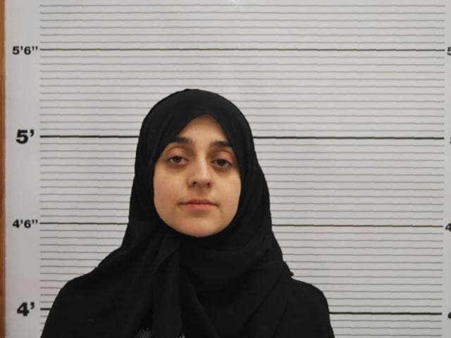 An undated handout photo released by West Midlands Police service and received in London on January 29, 2016, shows Tareena Shakil as she poses for a custody photograph.
