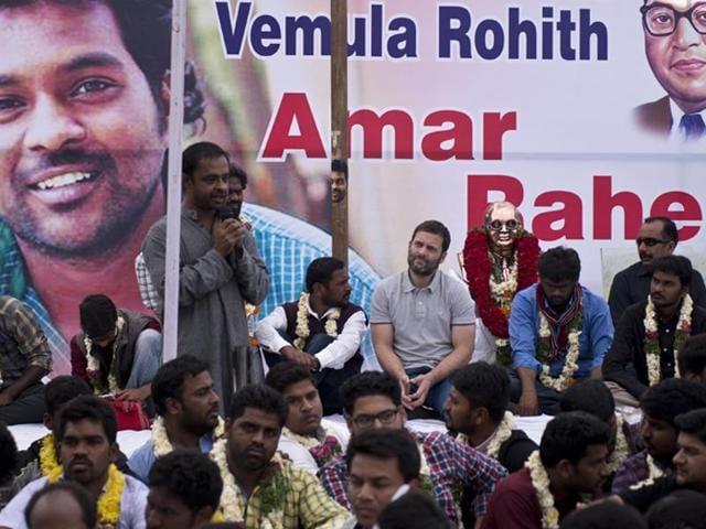 Rohith Vemula suicide,Hunger strike,Rahul Gandhi