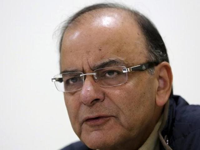 Finance minister Arun Jaitley attends the session