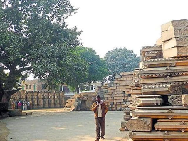 Arrival of a fresh load of stones from Rajasthan at the disputed Ram Janmabhumi-Babri Masjid site earlier once again swung the spotlight onto the temple controversy.