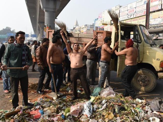 MCD workers' strike in Delhi,AAP government,MCD strike