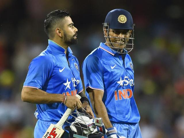 While Virat Kohli's job is to hold the innings together, MS Dhoni's task is to provide impetus.
