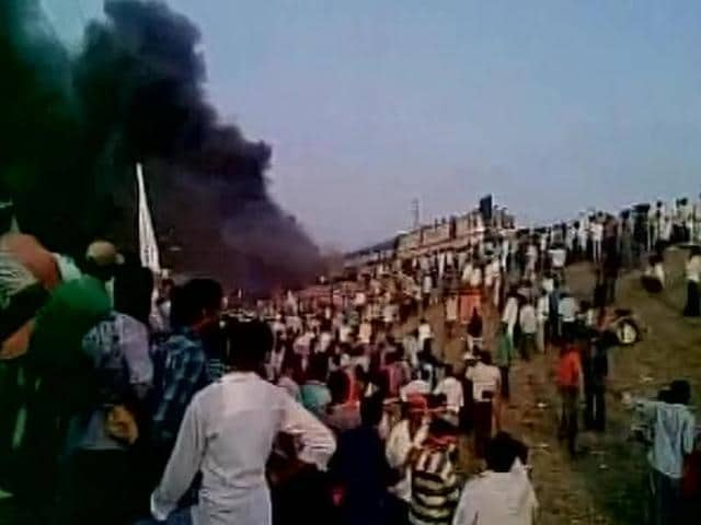 Protests by the Kapu community of Andhra Pradesh on Sunday turned violent with the protestors torching the bogies of a train and affecting rail and road traffic.
