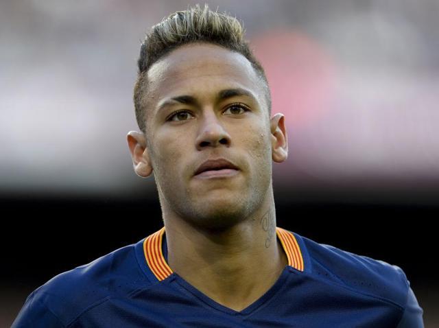 Neymar,Barcelona president Josep Maria Bartomeu,Santos