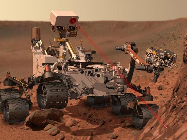Besides the surface of Mars, the photo also gives you a close-up of the Mars Curiosity rover that was used to take all the pictures used to stich together this video.