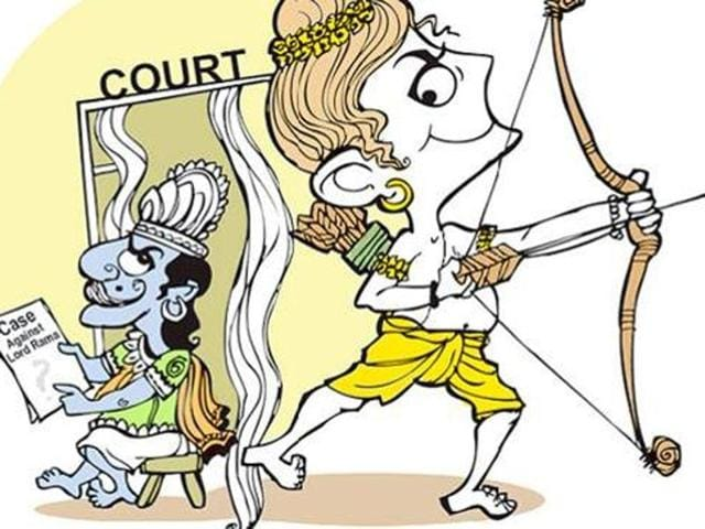 The case, filed in the court of the chief judicial magistrate (CJM), sought to be made out against Lord Rama is that his conduct showed him wanting in the treatment of women.(Illustration: Abhimanyu Sinha)