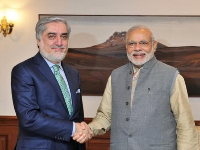 Chief Executive Officer and Head of the Council of Ministers Abdullah Abdullah called on Prime Minister Narendra Modi  in New Delhi