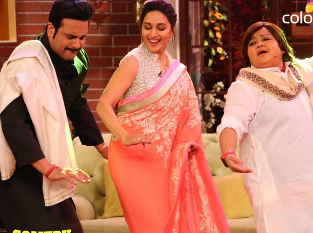 Krushna and Bharti with Madhuri Dixit on Comedy Nights Live which replaced Comedy Nights With Kapil.