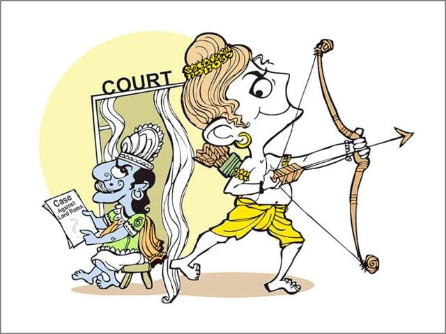 The 'case', filed in the court of the chief judicial magistrate (CJM), sought to be made out against Lord Rama is that his conduct showed him wanting in the treatment of women.