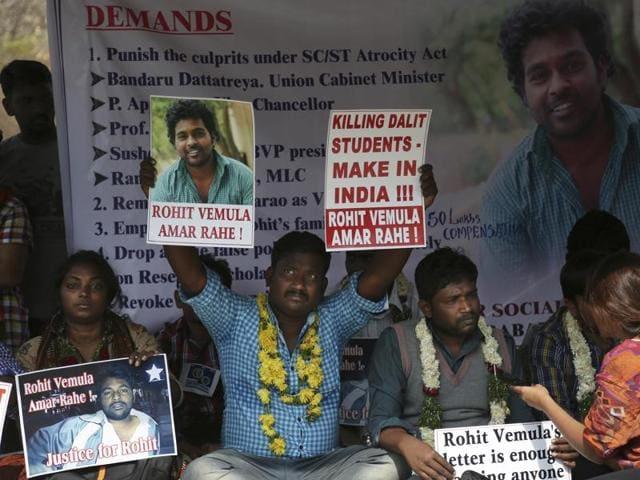 Dalit student suicide,Rohith Vemula,Hyderabad University