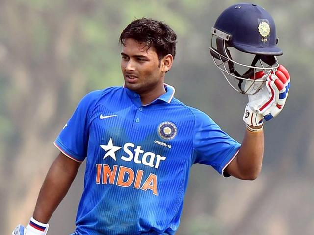 Rishabh Pant smashed his way into the U-19 World Cup record books with a 24-ball 78 .