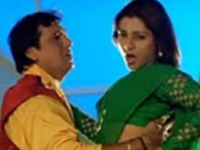 Tabu and Govinda in a still from Saajan Chale Sasural.