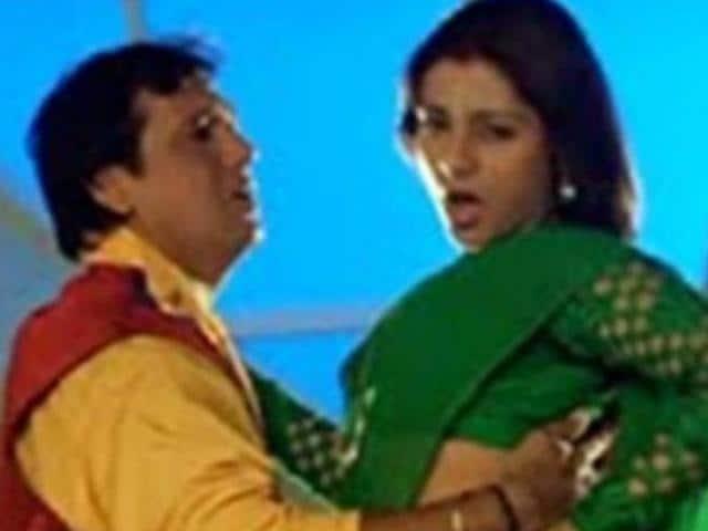 Tabu and Govinda in a still from Saajan Chale Sasural.