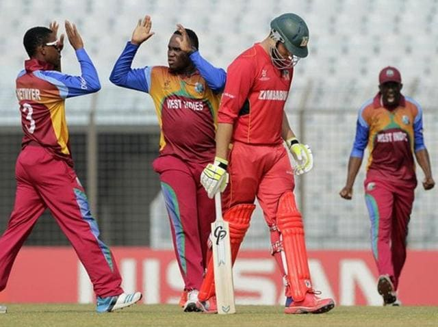 A controversial run out in the last over earned West Indies a place in the quarterfinals of the Under-19 World Cup.